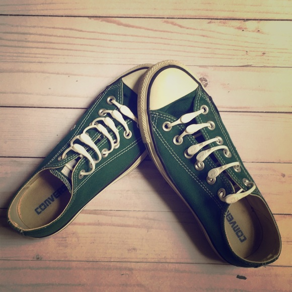 Converse Shoes Green Converse Allstar Sneakers W Hickies Laces Poshmark